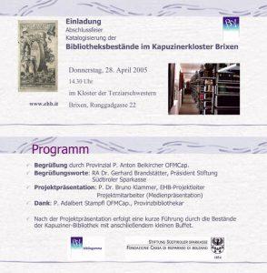Kapuzinerkloster Brixen - Abschlussfeier